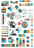 Set of various flat infographic templates. Vector banners. — Stock Vector
