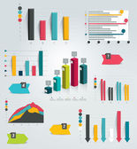Big set of infographic charts. Vector. — Stock Vector