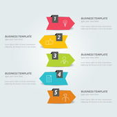 Infographic arrow. Step by step tutorial. — Stock vektor