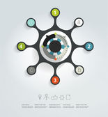 Circle network diagram. Infographic chart. Vector banner. — Wektor stockowy