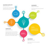 Infographics flat elements. Folder with diagrams, speech bubbles and graphs. — Vettoriale Stock