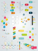Big collection of timeline template. Vector infographic. — Stock Vector