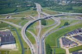 Major intersection with multiple overpasses — Stock Photo