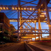 Harbor terminal at dusk — Stock Photo