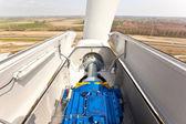 里面一个风力发电机的视图 — 图库照片
