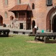 Stock Photo: Malbork.Poland.Cannons in courtyard of castle.