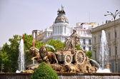 Cibeles Fountain on Plaza de Cibeles in Madrid, Spain — Stock Photo