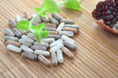 Herbal capsules — Stock Photo