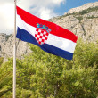 National flag of Croatia — Stock Photo
