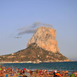 Sandy beach in Calpe, Spain - Stok fotoraf