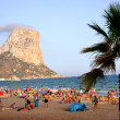Sandy beach in Calpe, Spain - 