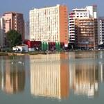 Apartment blocks in Calpe, Spain — Stock Photo
