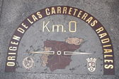 Kilometre zero sign in Madrid, Spain — Stock Photo