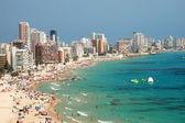 Sandy beach in Calpe, Spain — Stock Photo