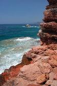 Picturesque scene of adriatic beach in Montenegro — Stock Photo