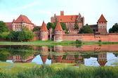 Malbork castle in Pomerania region, Poland — Stock Photo