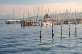 Picturesque marina of Lindau on Lake Bodensee, Germany — Stock Photo