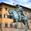 The statue of Cosimo I de Medici on Piazza della Signoria in Florence, Italy — Stock Photo