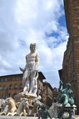 The famous fountain of Neptune on Piazza della Signoria in Florence, Italy — Stock Photo