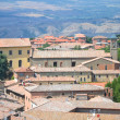 Picturesque view on historic buildings of Volterra in Tuscany, Italy — Stok fotoğraf