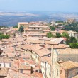 Picturesque view on historic buildings of Volterra in Tuscany, Italy — Photo
