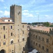 Постер, плакат: Picturesque view on historic buildings of Volterra in Tuscany Italy