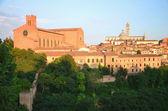 Gorgeous panorama of Siena at sunset, Tuscany, Italy — Stock Photo