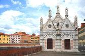 Kerk van santa maria della spina in pisa, toscane in italië — Stockfoto
