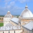 Impressive aerial view on Square of Miracles in Pisa, Italy — Stock Photo