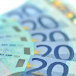 Stock Photo: Twenty euro banknotes