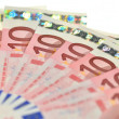 Stock Photo: Ten euro banknotes