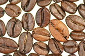 Roasted coffee beans isolated on white background — Stock Photo