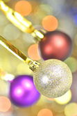 Carnival decoration, colored balls on bokeh background — Stockfoto