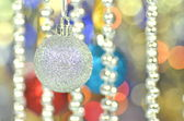 Carnival decoration, colored balls on bokeh background — Stock Photo