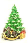 Christmas decoration, christmas tree isolated on white — Stock Photo