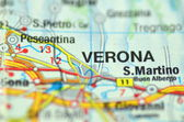 Parma in Italy on the map — Stock Photo