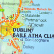 Dublin in Ireland on the map — Stock Photo