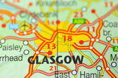 Glasgow in Scotland on the map — Stock Photo