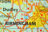 Birmingham in England on the map — Stock Photo