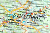 Stuttgart in Germany on the map — Stock Photo