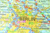 Berlin i Tyskland på kartan — Stockfoto