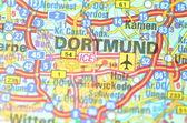 Dortmund in Germania sulla mappa — Foto Stock