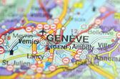 Geneve in Switzerland on the map — Stock Photo