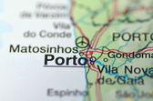 Porto in portugal auf der karte — Stockfoto