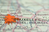 Brussels in Belgium on the map — Photo