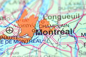 Montreal in Canada on the map — Stock Photo