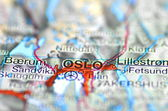 Oslo in Norway on the map — Stock Photo