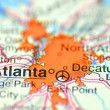 Foto Stock: Atlanta, Georgiin USon map