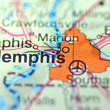 Memphis, Tennessee in USon map — Stock Photo #39211551