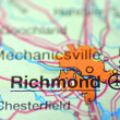 Stock Photo: Richmond, Wirginiin USon map